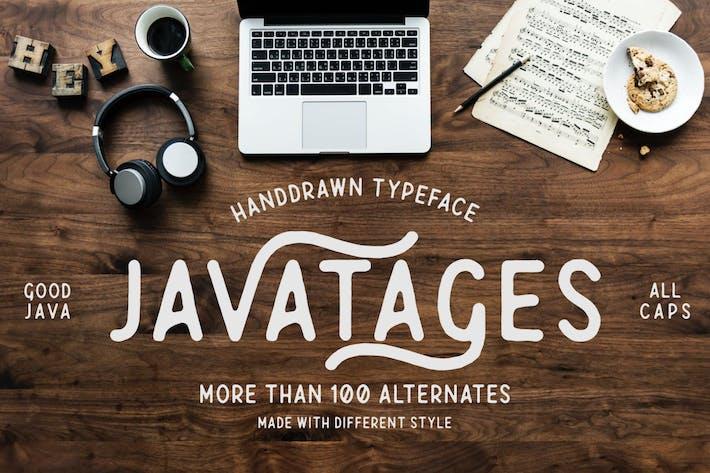 Thumbnail for Javatages GJ - Vintage Font