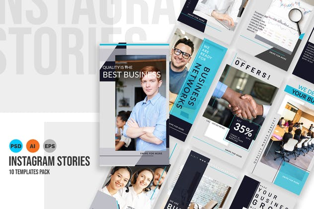 Solution - Business Instagram Stories Template