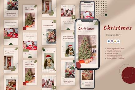 Merry Christmas Instagram Stories