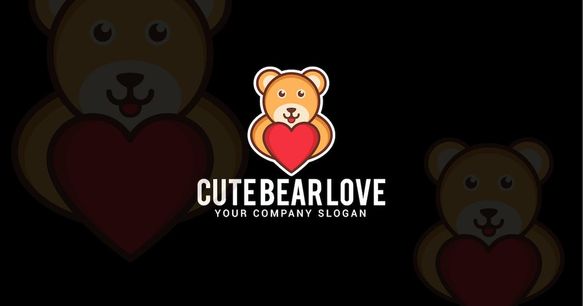 Download cute bear love by shazidesigns