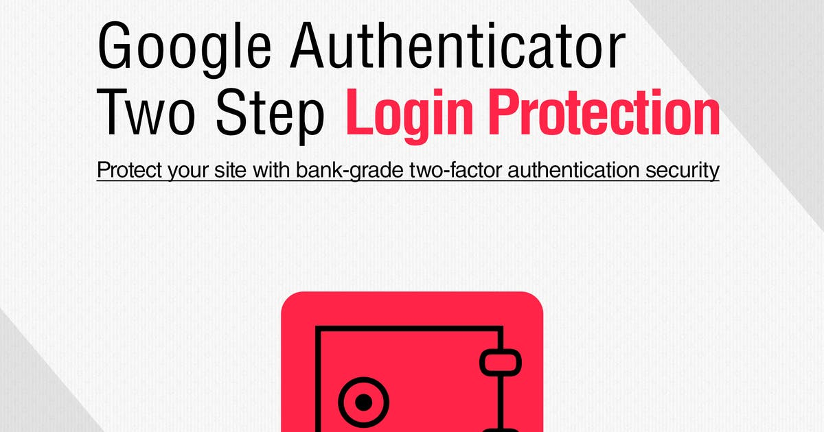 Download Google Authenticator Two Step Login Protection by WebFactory