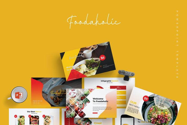 Thumbnail for Foodaholic - Powerpoint Template