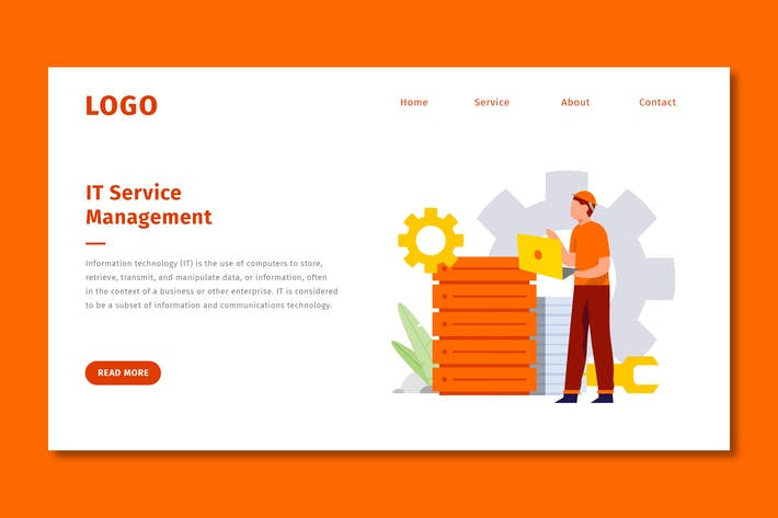 Thumbnail for IT Services - Landing Page Template