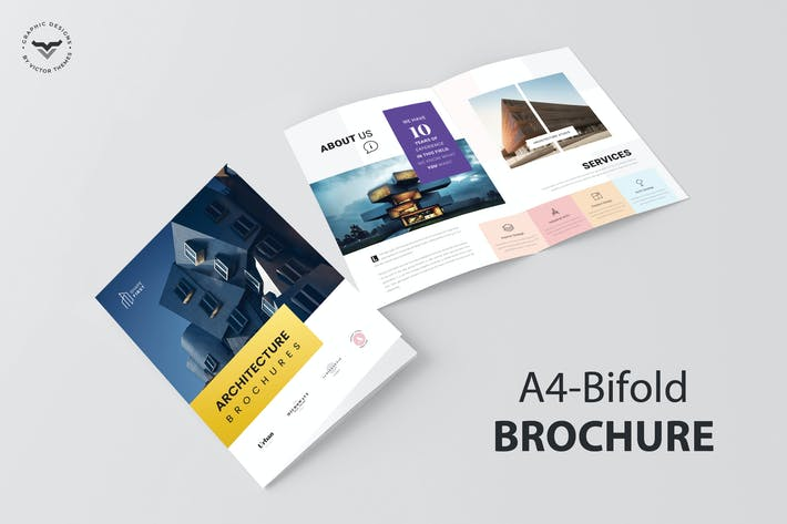 Thumbnail for Architecture Bifold Brochure Template