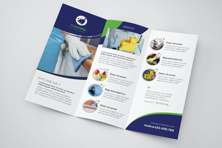Thumbnail for Cleaning Company - Trifold Brochure Template