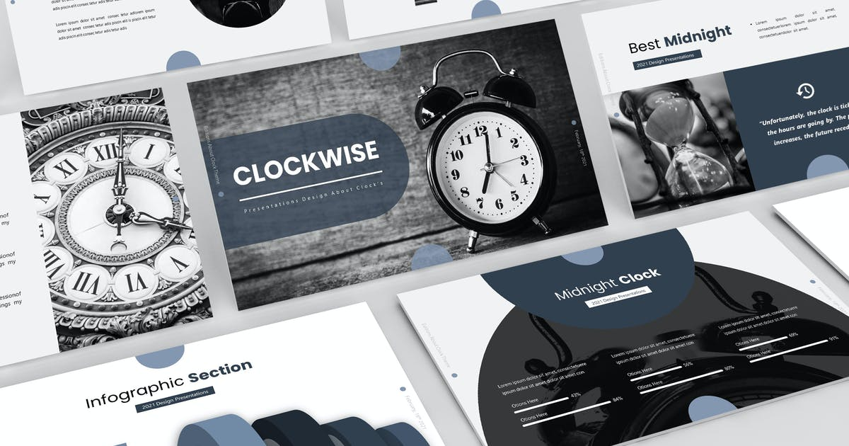 Download Clockwise - Presentation Template by aqrstudio