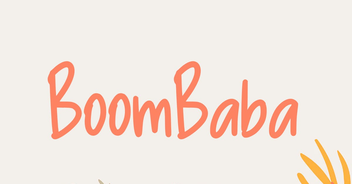 Download Boombaba Font by indotitas