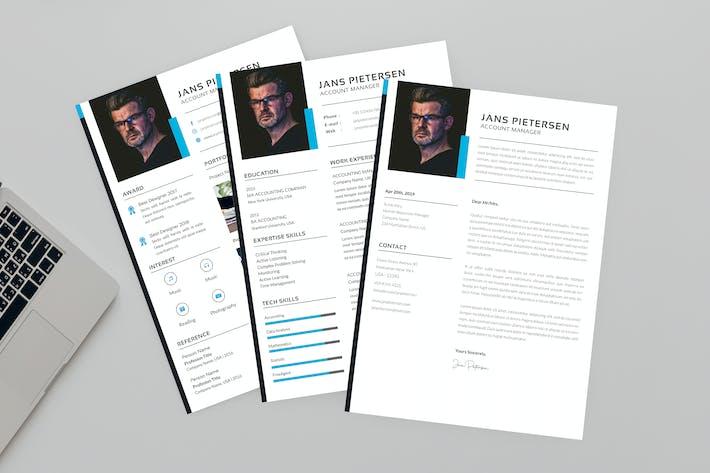 Thumbnail for Jans Account Resume Designer