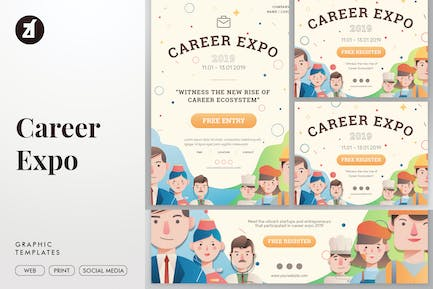 Career Expo Graphic Templates