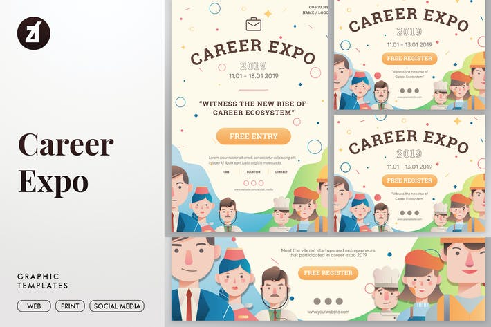Cover Image For Career Expo Graphic Templates
