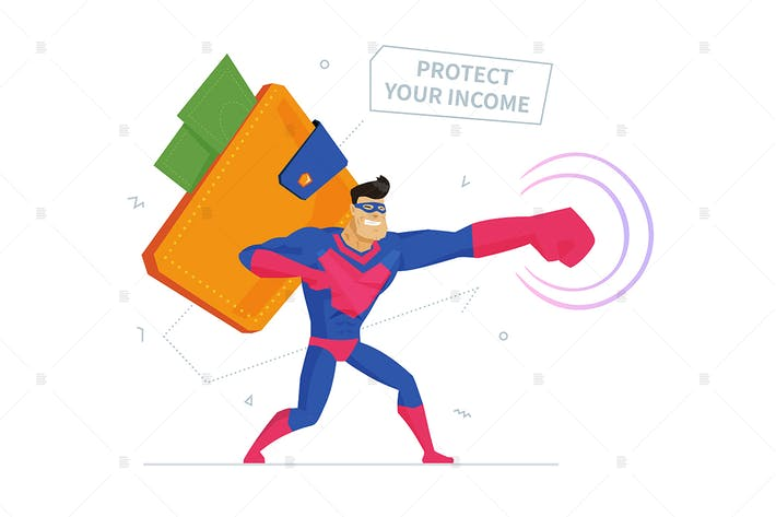 Thumbnail for Secure payment system metaphor flat illustration
