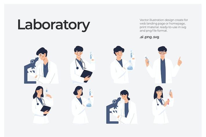 Laboratory - Illustration