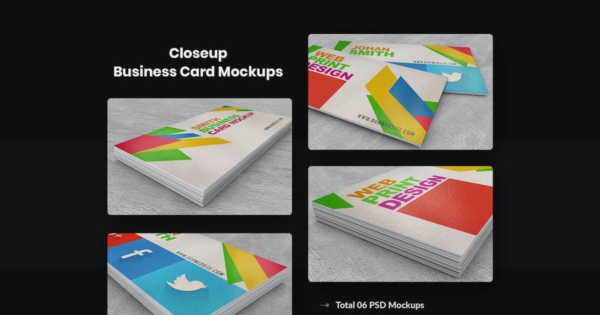 Download Close-up Business Card Mock-ups by HTMLguru