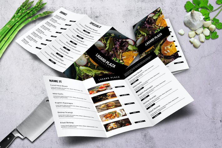 Thumbnail for Lagard Plaza Trifold A4 and US Letter Menu