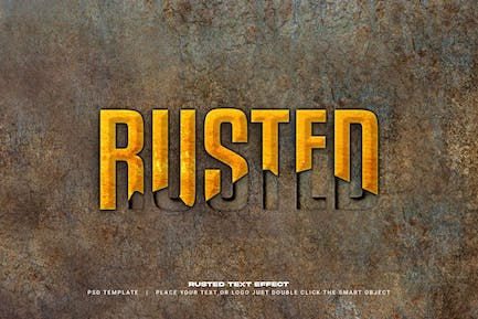 Rusted text style effect