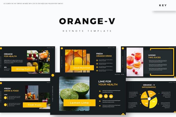 Orange-v - Шаблон Keynote