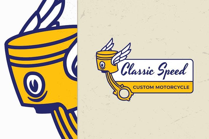 Thumbnail for Vintage Motorcycle Logo Badge