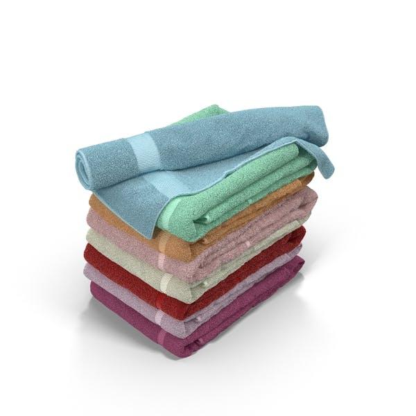 Colour Folded Towels