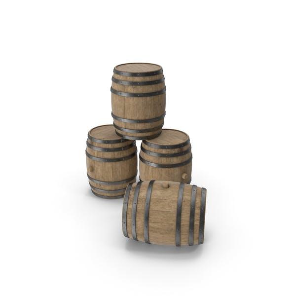 Деревянные бочки с буковыми прожилками