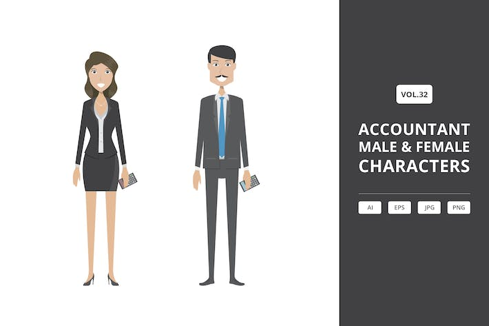 Thumbnail for Accountant - Male & Female Characters Vol.32