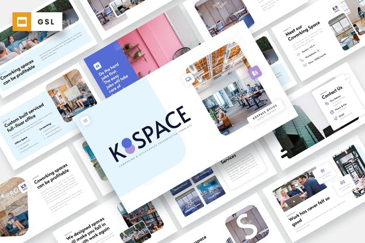 Thumbnail for KOSPACE - Coworking Office Google Slides Template