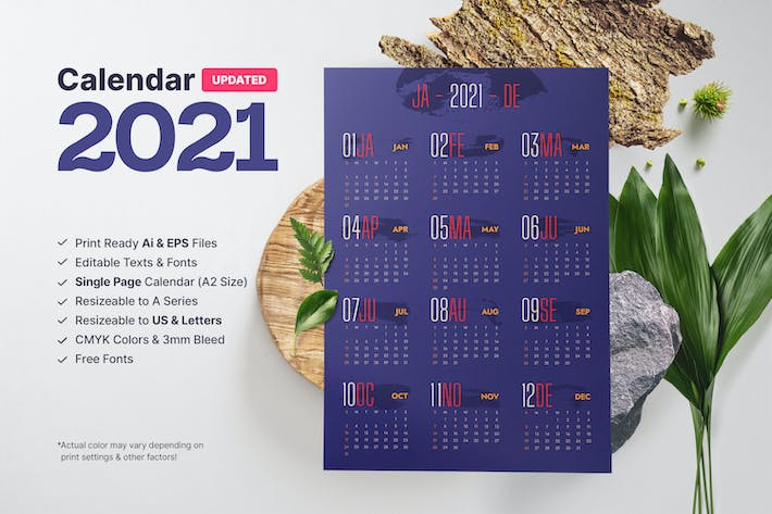 Thumbnail for Calendrier 2021