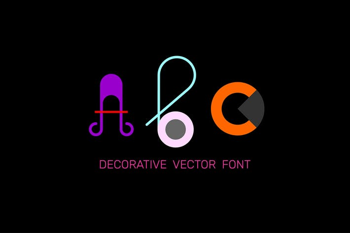 Thumbnail for Colorful Decorative Font vector design