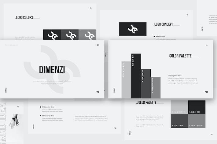 Thumbnail for Dimenzi Branding Guidelines Keynote Template