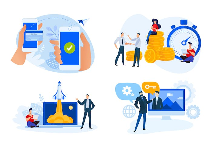 Thumbnail for Flat Design Concepts of Finance