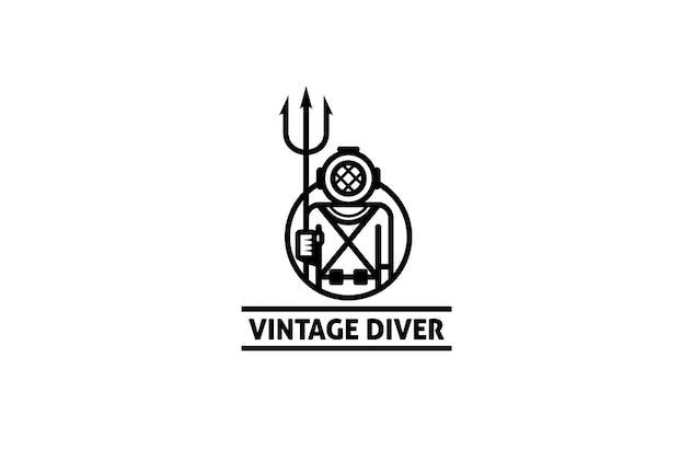 Vintage Diver Logo