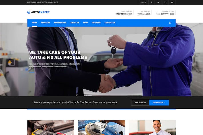 Thumbnail for Pro Agency- Multipurpose PSD Template
