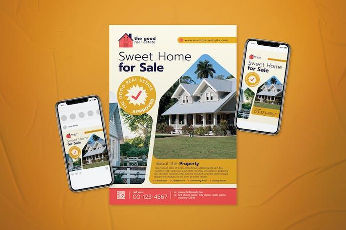 Thumbnail for Immobilien Flyer Set