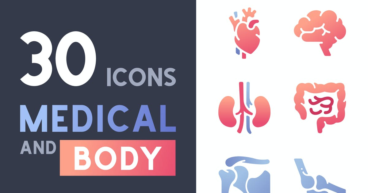 Download 30 Medical and Body icon set by Maxicons