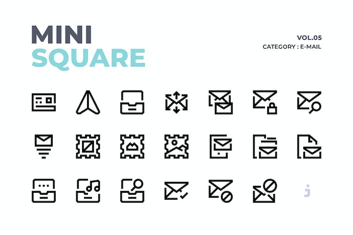 Thumbnail for Mini square - 60 E-Mail Icons