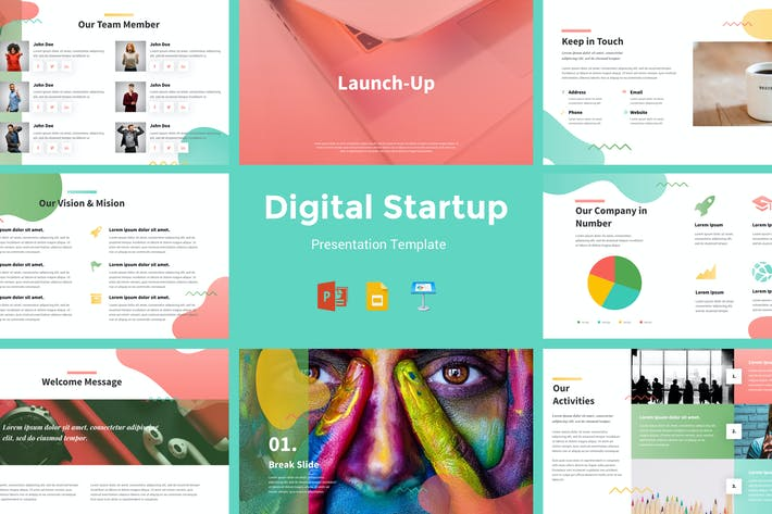 Thumbnail for Launchup - Digital Startup Presentation Template