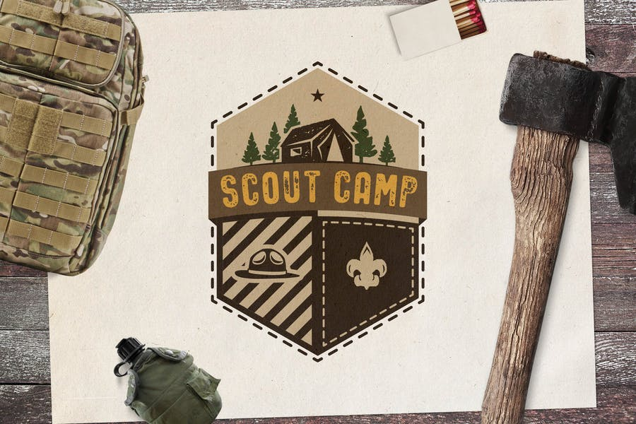 Vintage Adventure Badge / Travel Logo