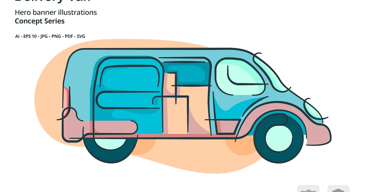 Download Delivery Van Transportation Vector Illustration by roundicons