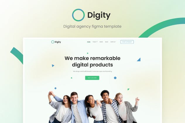 Digity - UI Template for Digital Agency