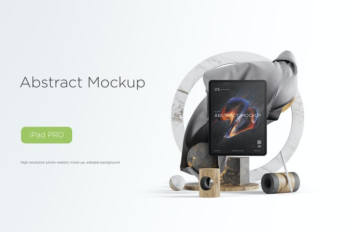 Cover Image For Abstract Mockup IPad Pro Max vol.05