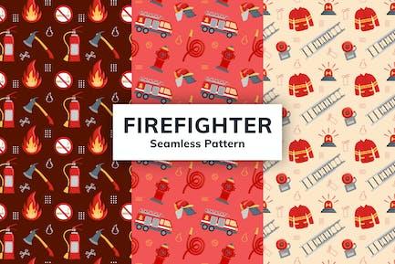 Firefighter Seamless Pattern
