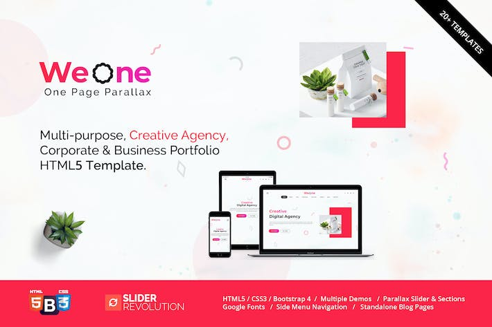 Thumbnail for Weone - One Page Parallax HTML5