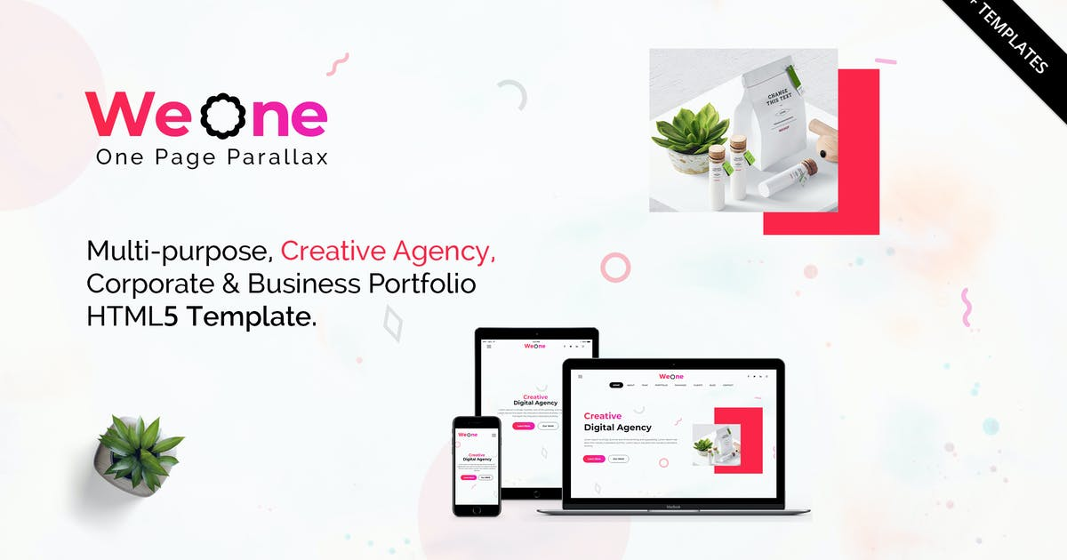 Weone - One Page Parallax HTML5 by themesindustry