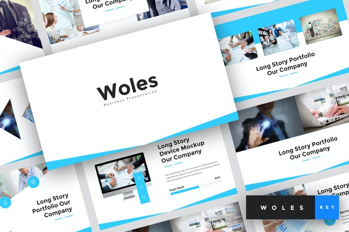 Thumbnail for Woles - Business Keynote Template