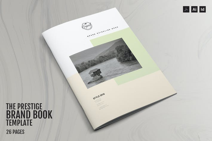 Thumbnail for Prestige - Brand Book Template - 26 Pages