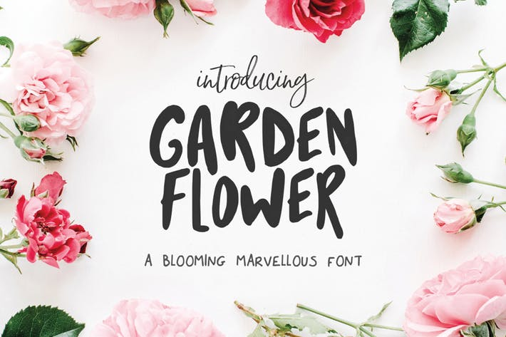 Cover Image For Garden Flower Font