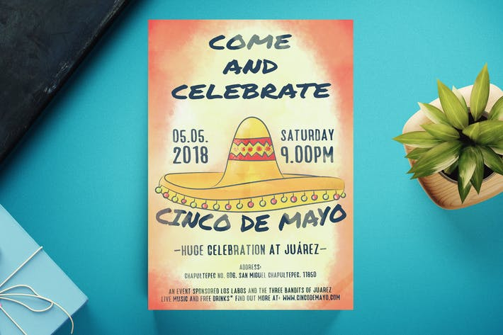 Cover Image For Cinco De Mayo Flyer