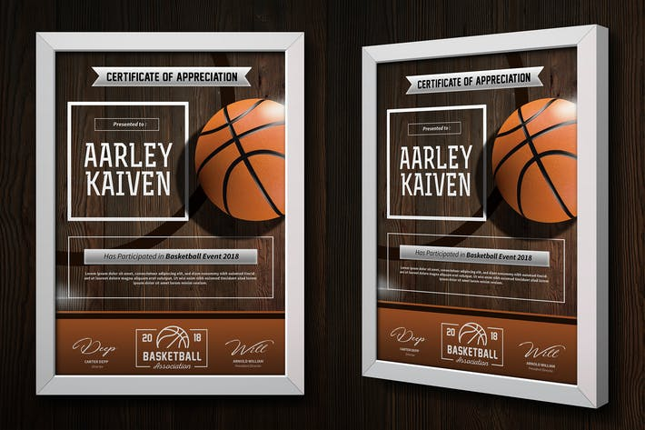Basketball certificates by aarleykaiven on envato elements basketball certificates yelopaper