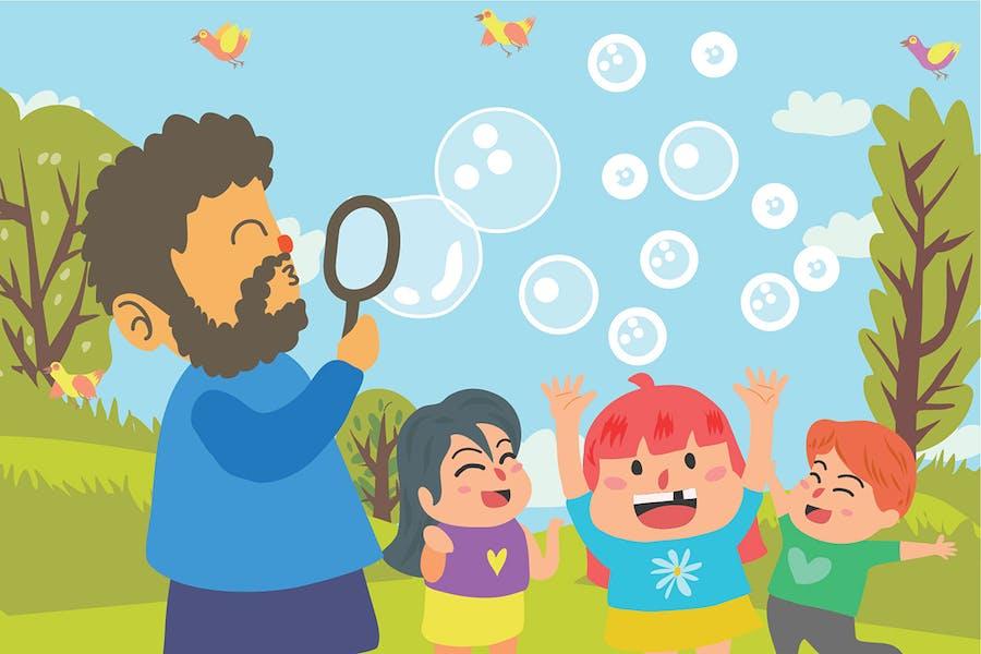 Play Bubble - Vector Illustration