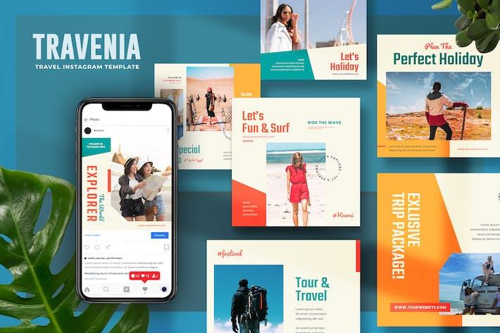 Travenia - Travel Instagram Post Template