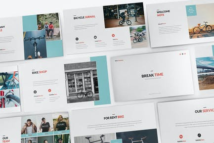 Bicycle Powerpoint Presentation Template